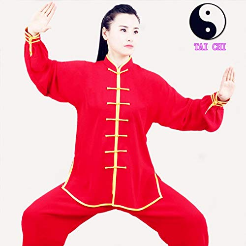 WUYIN Unisex Cotton Silk Tai Chi Uniform Women Silk Tai Chi Kung fu Clothes for Mens Martial Arts Tai Chi Suits Tang Suits Taiji Uniform (M, BDT-3)
