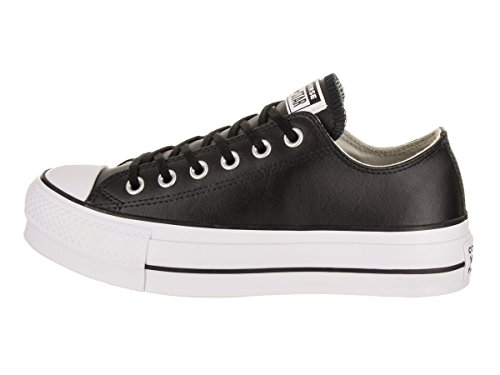 Converse Women's CTAS Lift Clean Ox Black/White Low-Top Sneakers Black (Black/Black/White 001) XqrJF