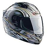 Xpeed Helmet XF 705 Spider Helmet (Silver/Black, XX-Large)