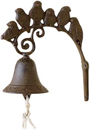 Noblik Timbre de Puerta de Hierro, Timbre de Puerta, Campana de Campo, jardín y jardín Delantero: Amazon.es: Hogar
