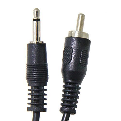FidgetFidget Mono Male Audio Cable for Pre-Amp Subwoofer Soundbar 6ft RCA Male to 3.5mm 1/8