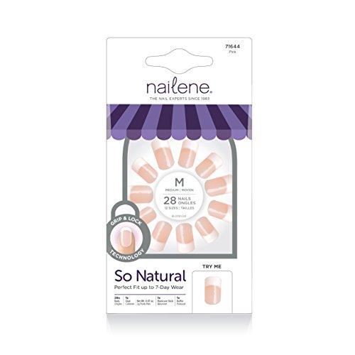Review Nailene So Natural Ultra Flex Nail, Pink French Medium, 28 Count
