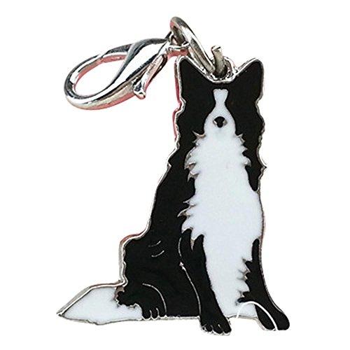 Border Collie Accessories (Dog ID Tag Enamel Accessories Collar Necklace Pendant (Border Collie))