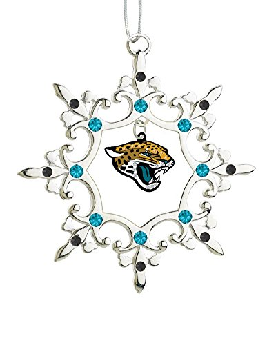 Final Touch Gifts Jacksonville Jaguars Rhinestone Christmas Ornament