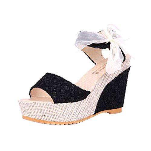 Sandalias De Verano, Inkach Moda Para Mujer Verano Bohemia Pendiente Con Chanclas Sandalias Mocasines Zapatos Negro