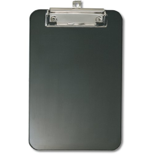 OfficemateOIC Memo Size Plastic Clipboard with Low Profile Clip, Black (83002) (Clipboard Mini)