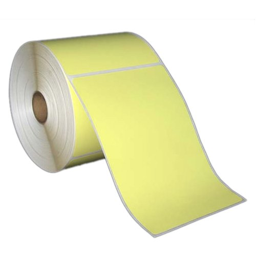 4x6 Inch Direct Thermal Paper Labels - Yellow - Rolls - 5
