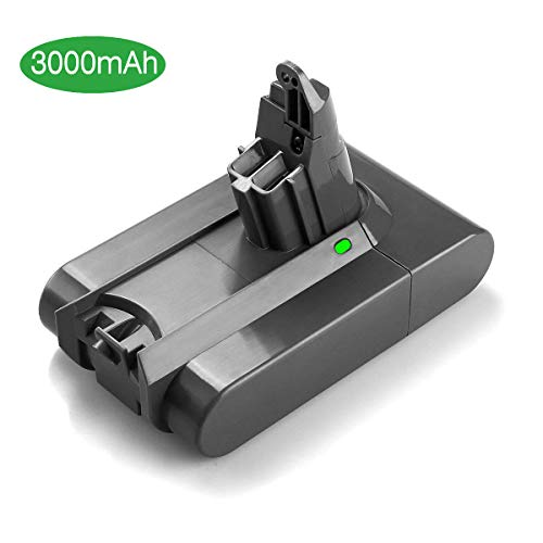 Powerextra Upgraded 21.6V 3000mAh Battery Compatible with Dyson V6 Li-ion Battery 595 650 770 880 DC58 DC59 DC61 DC62 Animal DC72 Series Handheld Replacement Battery ()
