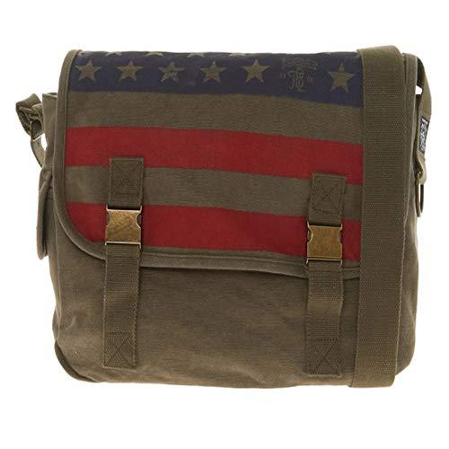 TIMBERLAND Khaki Flag Print Shoulder Bag RRP £45