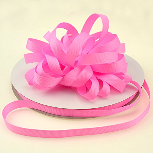 Star Quality 1/2 Inch Wide Double Face Grosgrain Ribbon for Floral Arrangement and DIY Projects | No Fading Woven Ribbon for Hair Bows, Gift Wrapping and Scrapbooking (1/2