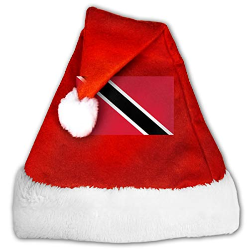 FQWEDY Flag of Trinidad and Tobago Unisex-Adult's Santa Hat, Velvet Christmas Festival Hat]()