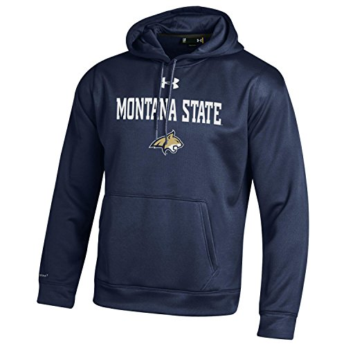 Under Armour NCAA Montana State Bobcats Men's Fleece Hoodie, XX-Large, Midnight Navy from Under Armour