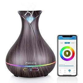 Alexa Aroma Diffuser, Maxcio, Luftbefeuchter 400ml, Kompatibel mit Alexa und Google Home