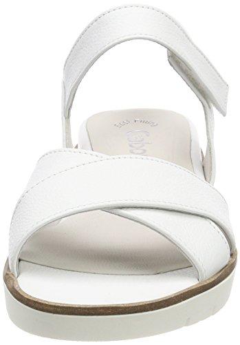 Ankle Women's Sandals Weiss Strap Basic White Gabor v7qgw