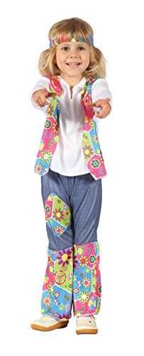 Girls Hippy Girl Toddler Costume for Hippie 60s 70s Fancy Dress Outfit Child by Partypackage Ltd (Sixties Fancy Dress Costumes)