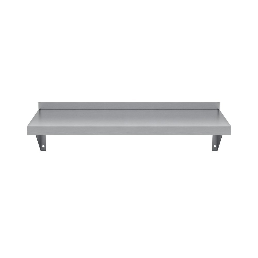 Elkay Professional Series NSF Stainless Steel Wall Shelf with Backsplash without Mounting Hardware, 24'' x 12'' by Elkay Foodservice (Image #3)
