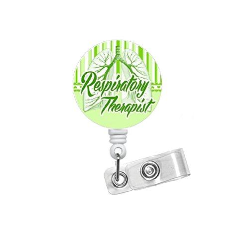 Respiratory Therapist Badge Reel Green - RT Badge Holder - Badge Pulls - Respiratory Specialist Badge Clip - Pulmonary Badge Reel - Lung Badge