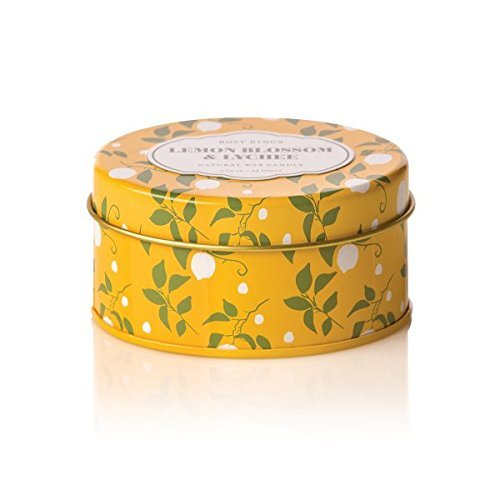Travel Blossom Candle (Rosy Rings Lemon Blossom & Lychee Travel Tin Candle 2.75oz)