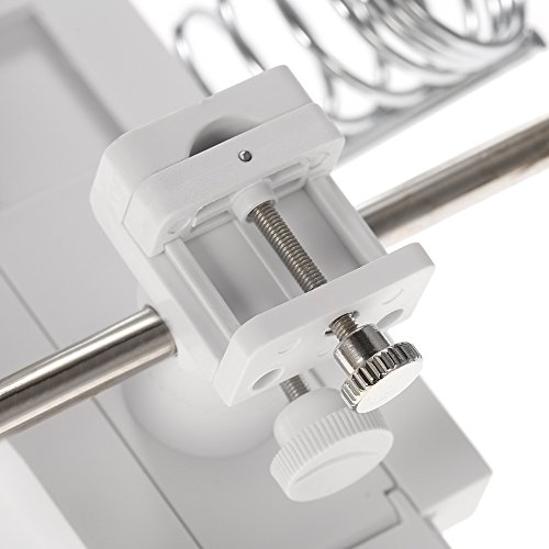 KKmoon Multifonctionnel 3X/4.5X Orgnette Lampe Loupe de Réparation avec Support -BLANC
