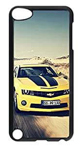 iPod 5 Cases, Hot Sale Personalized Camaro Ss Bumblebee Muscle Car Creativity Protective Hard PC Plastic Black Edge Case Cover for Apple iPod Touch 5 5th Generation