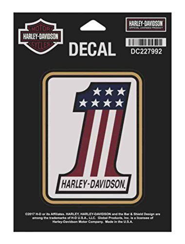 white harley davidson decal - 4