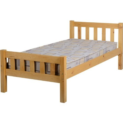 Seconique Carlow Pine Wooden Single Bed Frame by Seconique