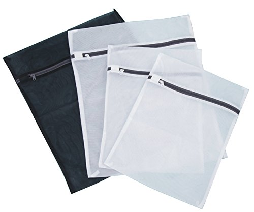 PONML-Set of 4 Mesh Laundry Bags Blouse, Hosiery, Underwear, Lingerie Washing Bag (4) -