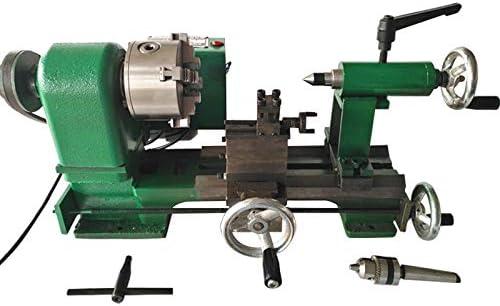 WANG 220V pequeño Torno máquina fresadora, Mini Amoladora de Metal Medidor de precisión Herramienta de Escritorio Principal de DIY 350W