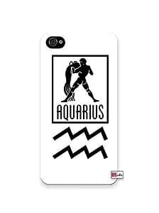 Aquarius Sign Zodiac Horoscope Symbol Apple iphone 5c Quality TPU Soft Rubber Case for iphone 5c T Sprint Verizon - White Case