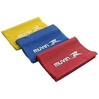 Kit com 3 faixas elásticas - Muvin - 150cm x 15cm