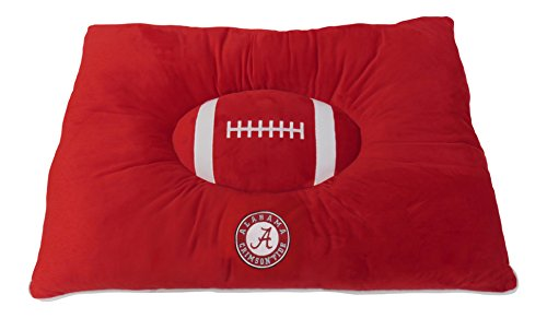 Pets First Collegiate Pet Accessories, Dog Bed, Alabama Crimson Tide, 30 x 20 x 4 inches (Ncaa Pet Bed)