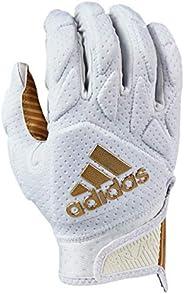adidas Freak 5.0 Padded Football Receiver Glove, White/Metallic Gold, Medium