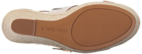 West Multi Leather Natural Nine Sandal Women Jellia Wedge nRxqOOCFwv