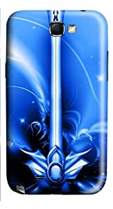 Free Blue Excalibur PC Case and Cover for Samsung Galaxy Note 2/ Note II/ N7100
