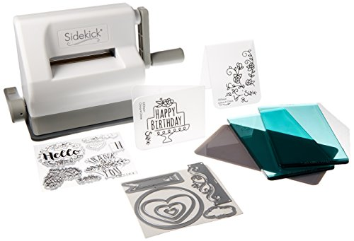 Systems Cutting Die (Sizzix Sidekick Starter Kit - White and Gray with Aqua Cutting Plates, Embossing Pad, Embossing Folders, Dies and Stamps - Item 661770)