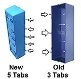 New Improved BLUE Parts Storage Bins Hooks to Peg