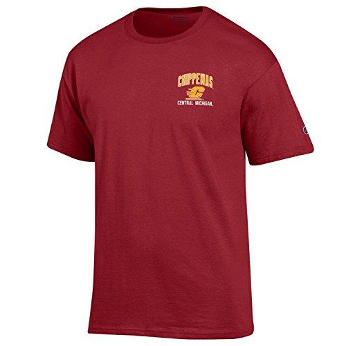 (Champion NCAA Central Michigan Chippewas Men's Men's Backfield Short Sleeve T-Shirt, X-Large, Cardinal)