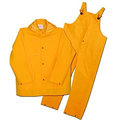 3PR0300YX Boss 3PR0300YX Extra Large Yellow 3-Piece Lined PVC Rain Suit by Boss Gloves