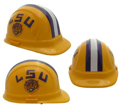 LSU Tigers - NCAA Team Logo Hard Hat Helmet - Lsu Helmet Decal