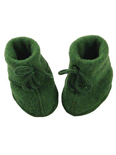 Engel Baby Schühchen - Zapatos primeros pasos de Lana para niña Rot Melange 1 Grün Melange