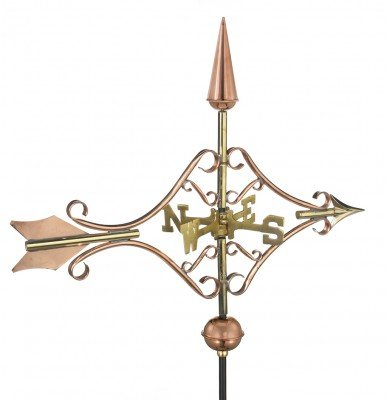 Good Directions GOOD8842PGD Polished Copper Victorian Arrow Garden Weathervane
