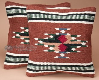 - Mission Del Rey Pair Southwest Pattern Pillow Covers 18x18 Cherokee Style