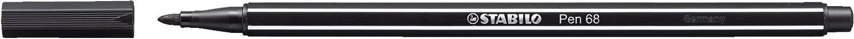 STABILO Pen 68 Pennarello colore Nero - Confezione da 10 68/46