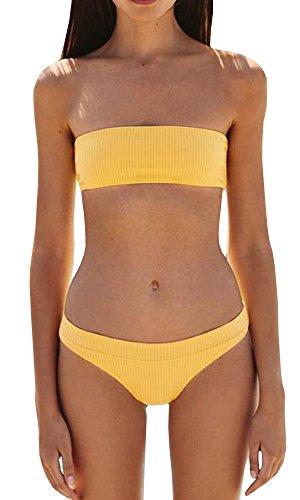 yellow bikini top - 2