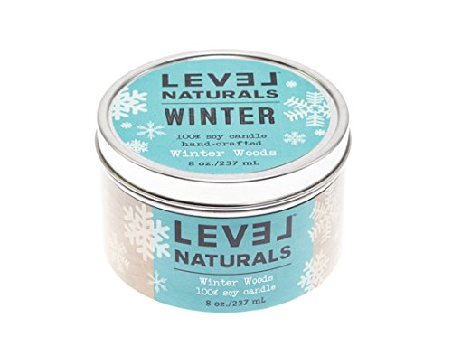 LIMITED EDITION: Level Naturals Winter Woods 6oz Tin Candle (MYFOOTPRINT.IS EXCLUSIVE) - Exclusive Tin