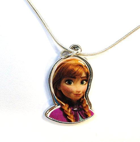 HOT Christmas Gift! Disney Frozen Elsa Anna Charm Necklace Brand New in Jewelry Box with Bonus Bracelet Making Kit (ANNA 2)