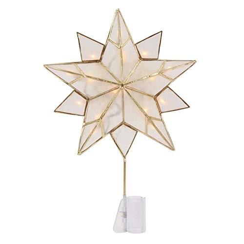 old Metal and Capiz Star Tree Topper ()
