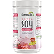 Naturade Total Soy All-Natural Original Powder – Strawberry Creme – 17.88 oz