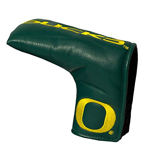 Team Golf NCAA Oregon Ducks Golf Club Vintage Blade Putter Headcover, Form Fitting Design, Fits Scotty Cameron, Taylormade, Odyssey, Titleist, Ping, Callaway
