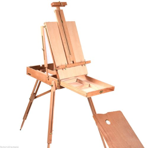 Gracelove French Easel Wooden Sketch Box Portable Folding Durable Artist Painters Tripod (Type 1, Color 1)